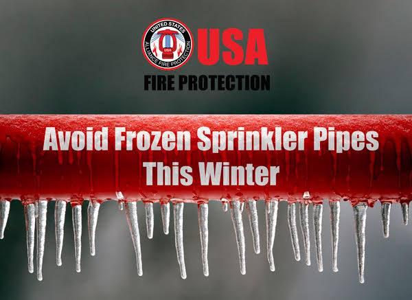 avoid frozen sprinkler pipes this winter
