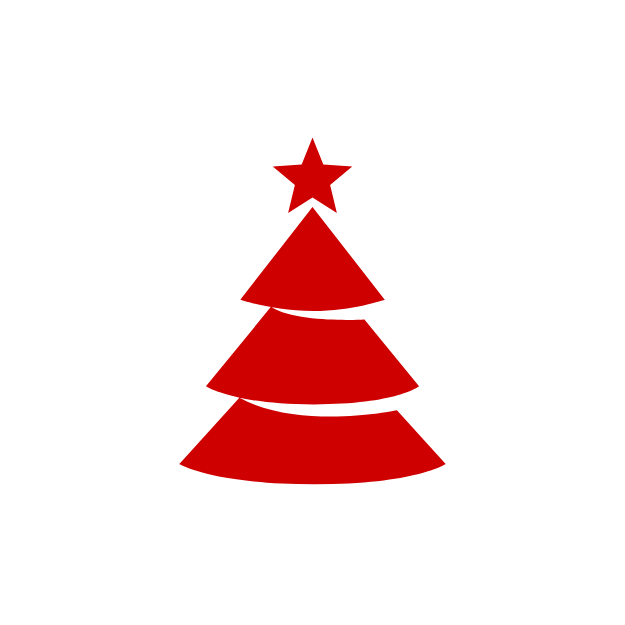 Red Christmas tree icon